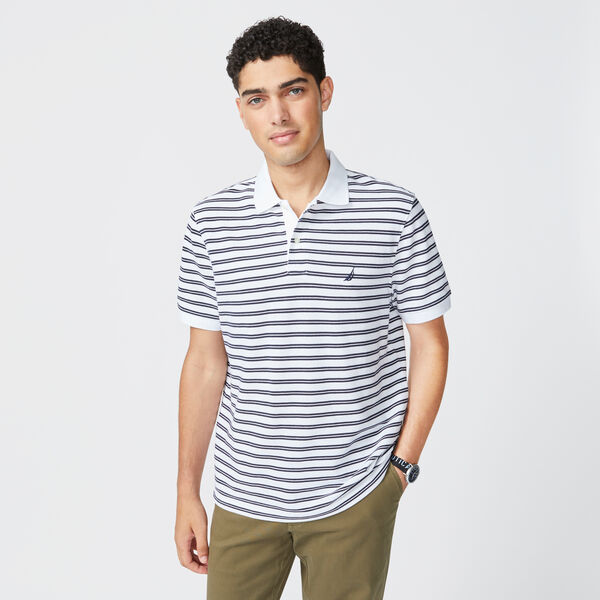 COLORBLOCK PREMIUM COTTON POLO - Bright White