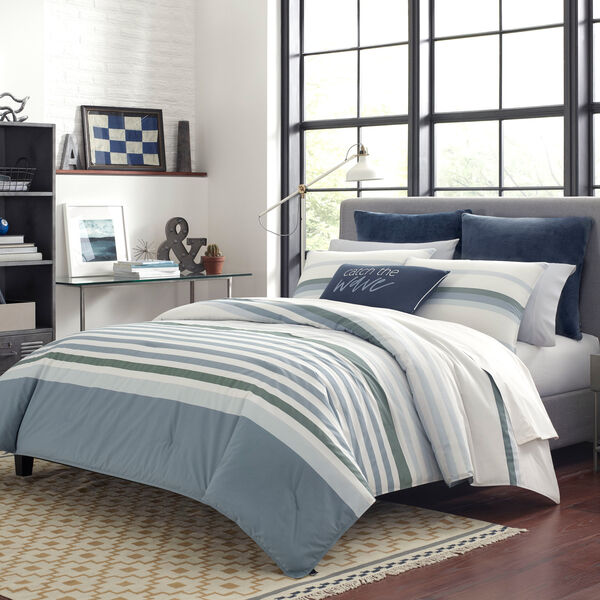 LANSIER DUVET COVER SET IN GREY - Rolling River Wash