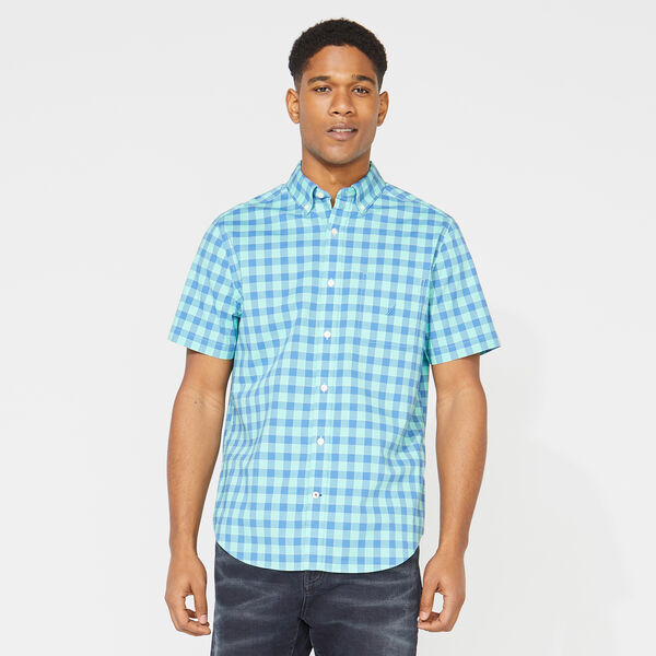 CLASSIC FIT PLAID POPLIN SHIRT - Mint Spring