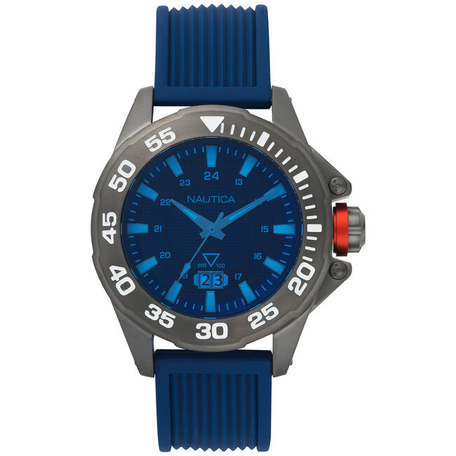 Westview Silicone 3-Hand Watch - Blue,Multi,large
