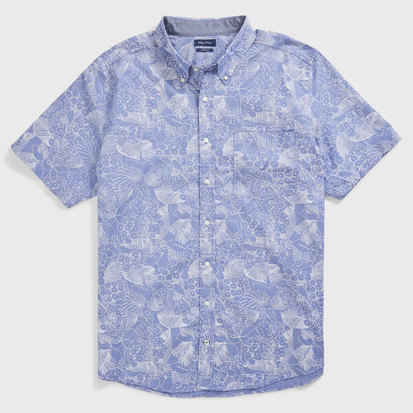BIG & TALL CLASSIC FIT PRINT OXFORD SHIRT - Windsurf Blue