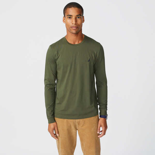 CREWNECK LONG SLEEVE T-SHIRT - Olive