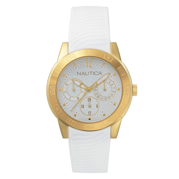 Long Beach Water Resistant Watch - Bright White