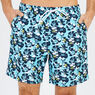 Big & Tall Abstract Poppy Swim Trunks,Bali Bliss,large