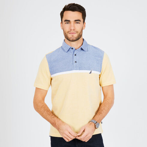 Classic Fit Short Sleeve Colorblock Palm Springs Polo - Sunfish