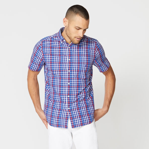 CLASSIC FIT TATTERSALL POPLIN SHIRT - Limoges