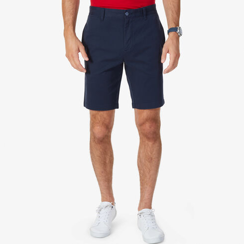 "Flat Front Slim Fit Shorts - 9.5"" Inseam - True Navy"