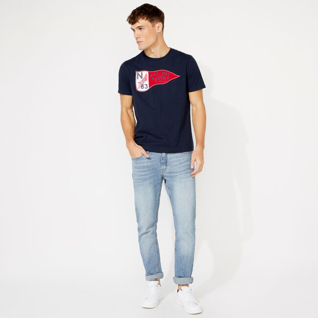 NSS FLAG GRAPHIC T-SHIRT,Navy,large