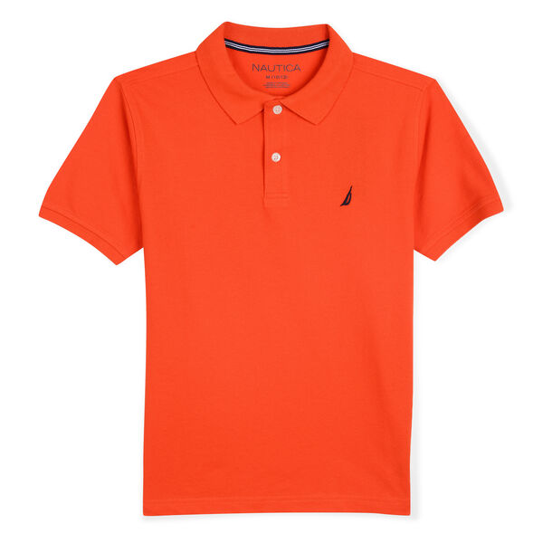 TODDLER BOYS' STRETCH DECK POLO (2T-4T) - Cutty Orange