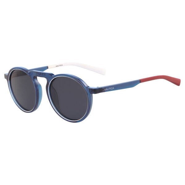 RETRO SHAPE SUNGLASSES IN NAVY - Workshirt
