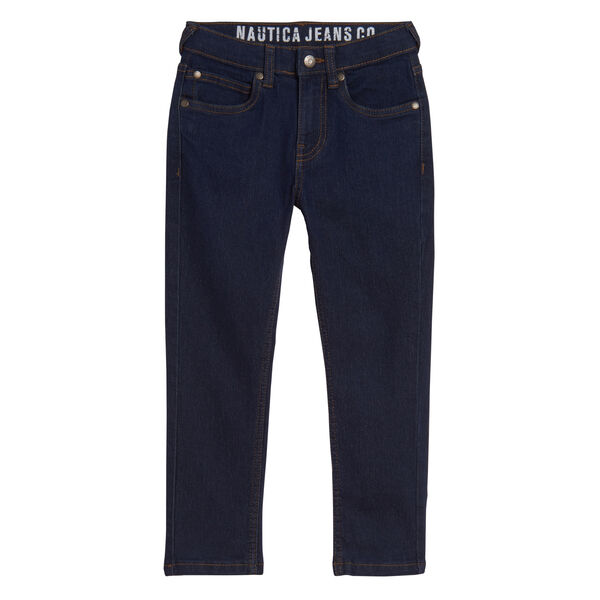 BOYS' SKINNY-FIT JEANS (8-20) - Dock Blue