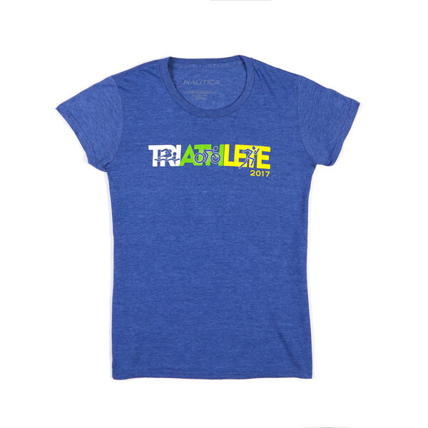 Nautica Malibu Triathlon Triathlete Tee - Estate Blue