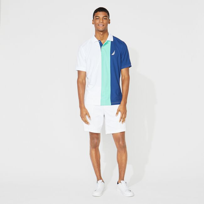 CLASSIC FIT NAVTECH COLORBLOCK POLO,Bright White,large