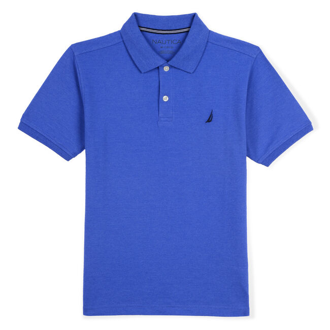 BOYS' DECK POLO,True Navy,large