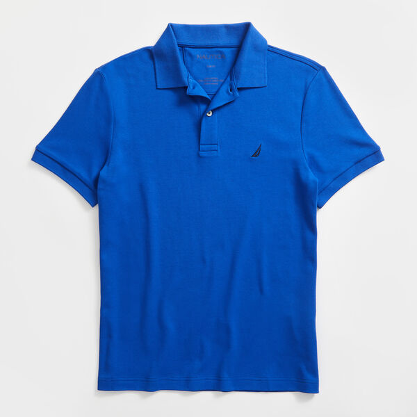 SLIM FIT INTERLOCK POLO - Bright Cobalt