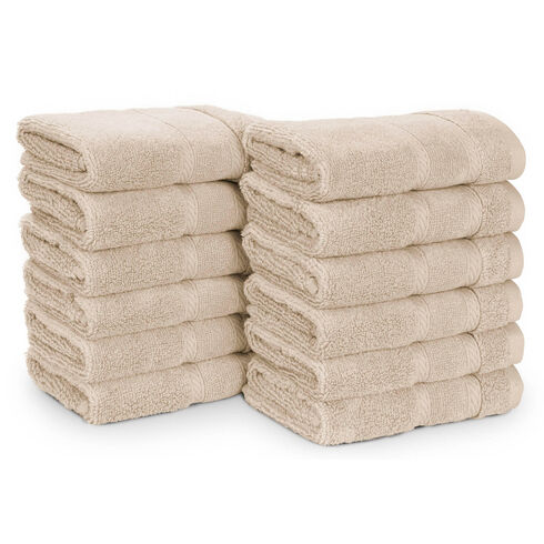 Belle Haven Washcloth Set, 12-Piece - Khaki