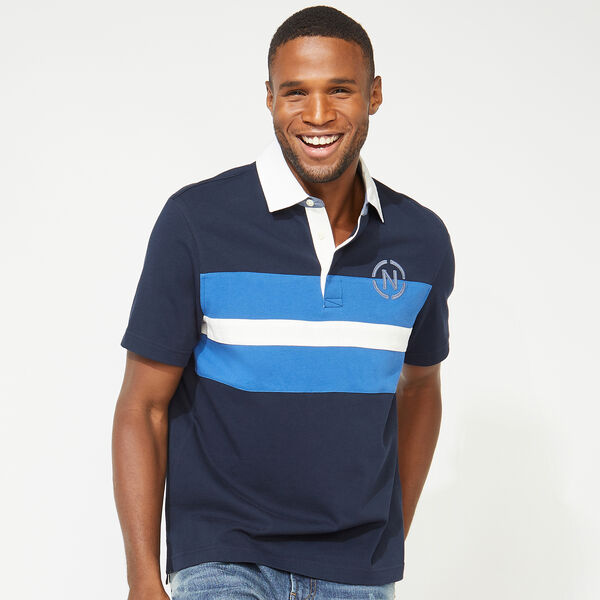 NAUTICA JEANS CO. CHEST STRIPE POLO - Navy
