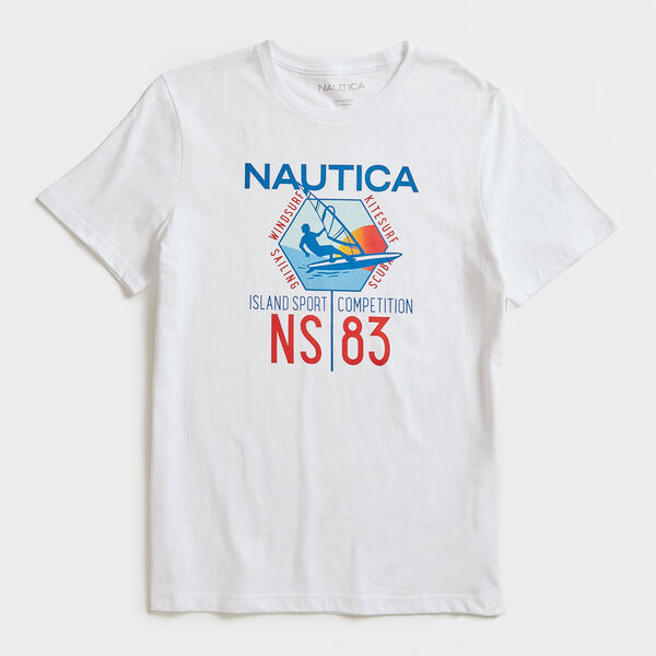 WINDSURFING GRAPHIC T-SHIRT - Bright White