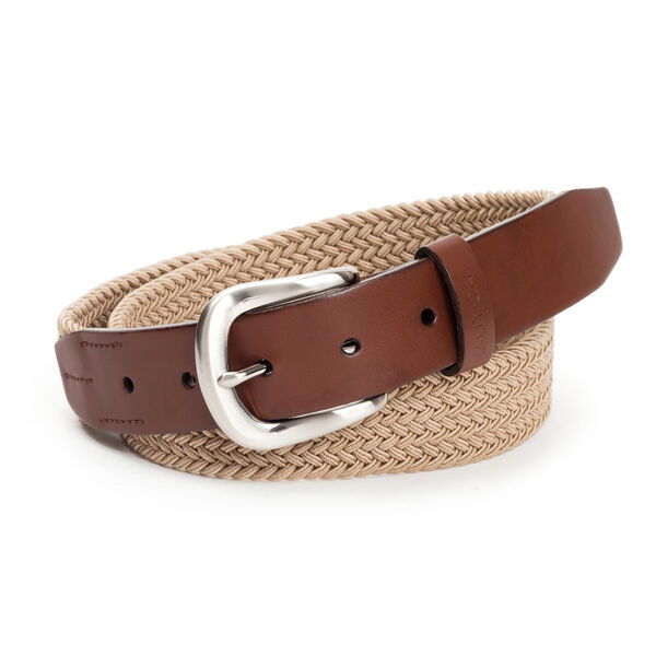 MIXED MEDIA BRAIDED CASUAL BELT - Sea Grass Heather