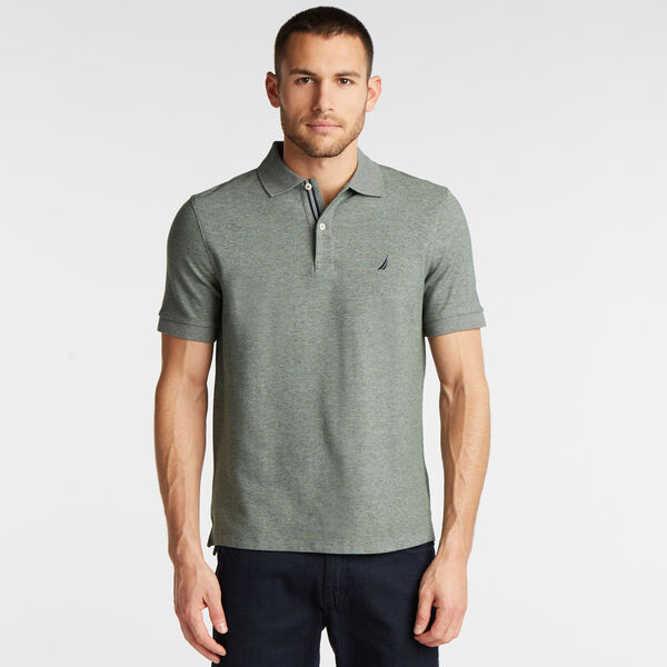 CLASSIC FIT PERFORMANCE MESH POLO - Pine Forest Heather