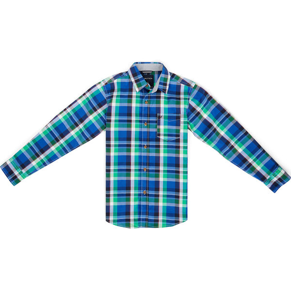 Toddler Boys' Mason Plaid Long Sleeve Shirt (2T-4T) - Imperial Blue