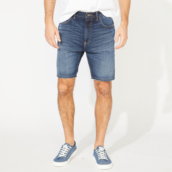 NAUTICA JEANS CO. DISTRESSED DENIM SHORT - Blue Mist Pantone