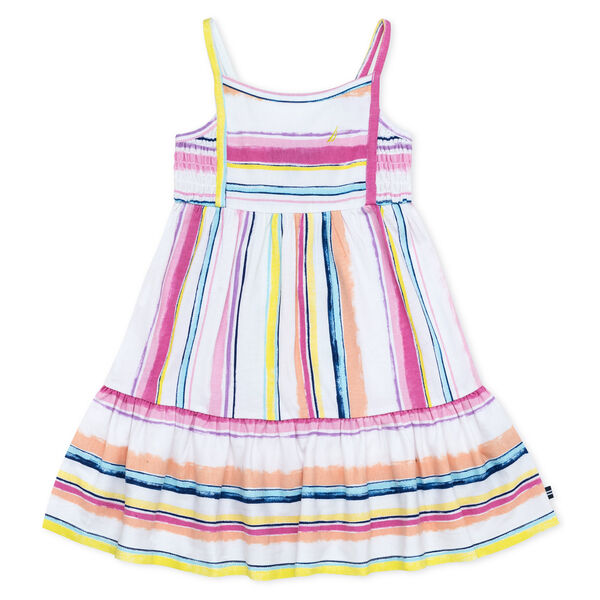 TODDLER GIRLS' JERSEY DRESS IN STRIPE (2T-4T) - Pale Pink