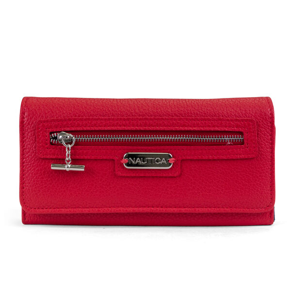 ABOVE BOARD BOXED CONTINENTAL WALLET - Nautica Red
