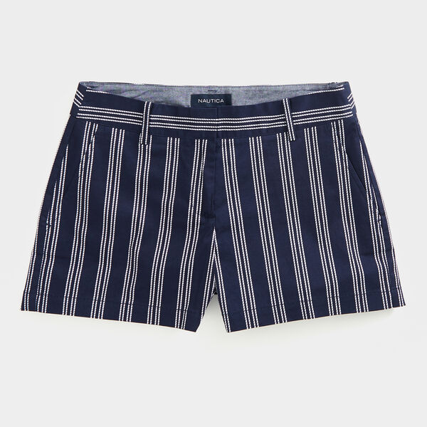 "4"" STRIPE TWILL SHORTS - Stellar Blue Heather"