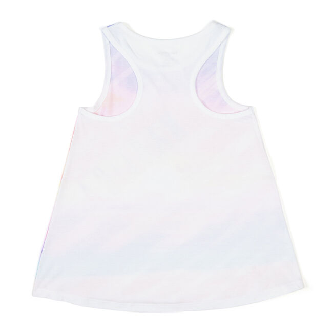 Little Girls' Sublimated Beach Tank (4-6X),White,large
