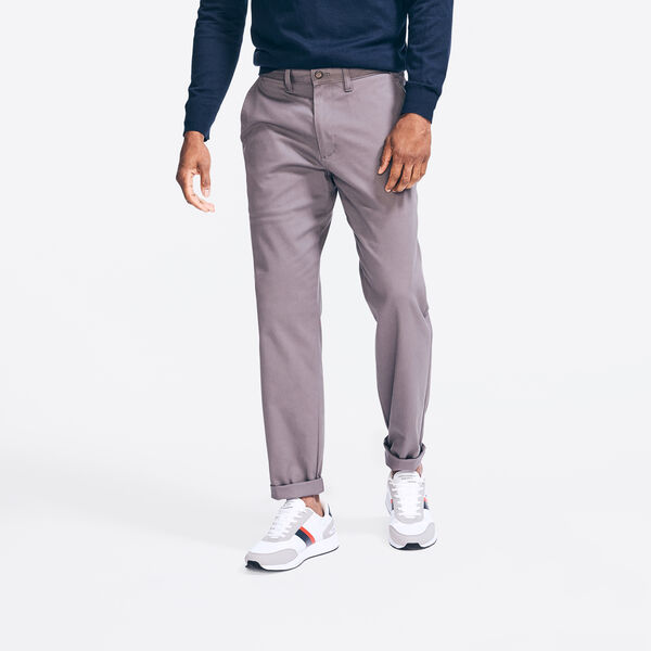CLASSIC FIT WRINKLE-RESISTANT DECK PANT - Blue Yonder Heather