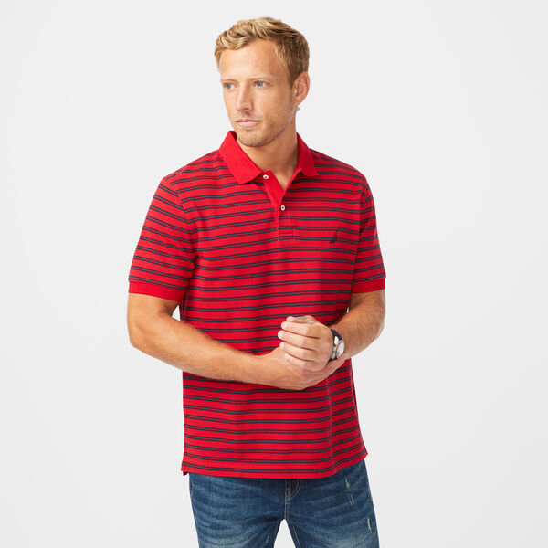 COLORBLOCK PREMIUM COTTON POLO - Nautica Red