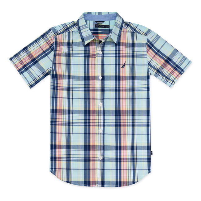 BOYS' BENJAMIN WOVEN SHIRT,Cargo Green,large