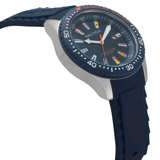 Jones Beach Silicone Watch - Navy,Navy,large