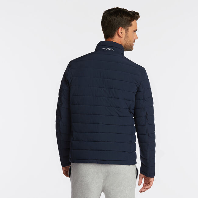 BIG & TALL STRETCH REVERSIBLE PUFFER,Workshirt Blue,large