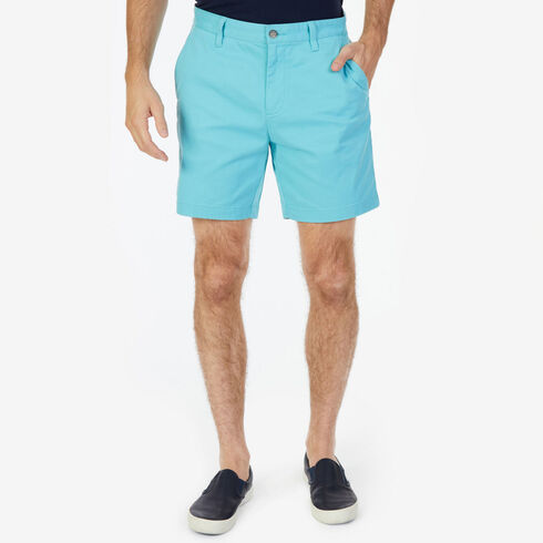 "Stretch Twill Flat Front Classic Fit Shorts - 6"" Inseam - Angel Blue"