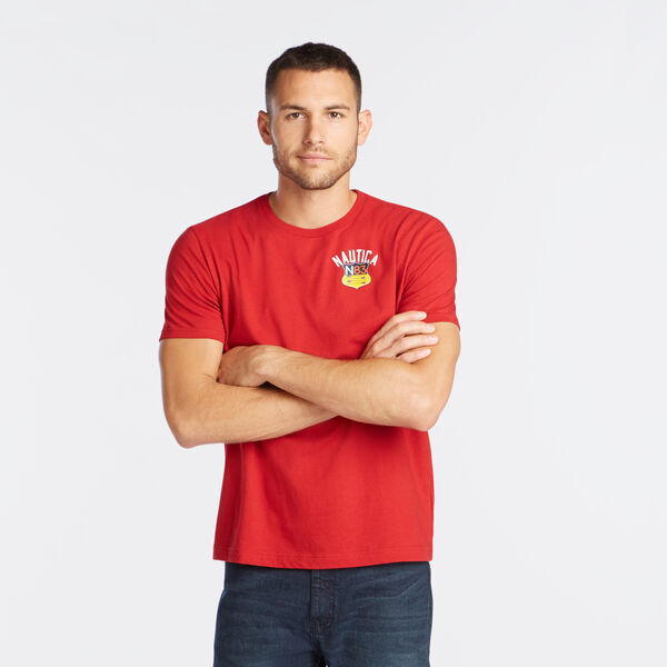 OAR CREST GRAPHIC TEE - Nautica Red