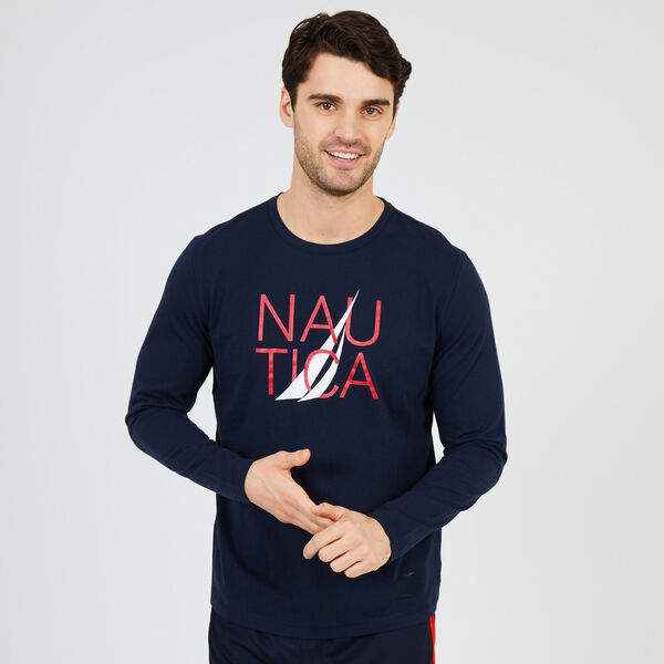 J-Class Logo Long Sleeve Sleep Tee - Navy