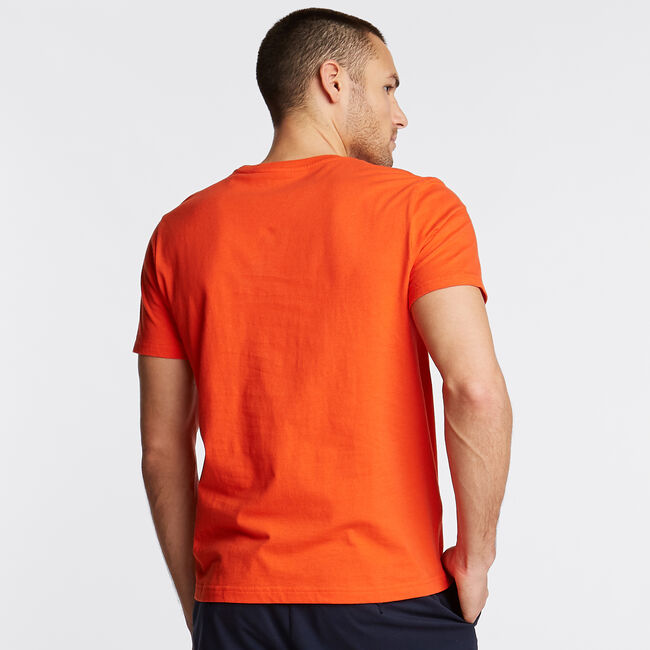 Classic Fit Crewneck T-Shirt in Pacific Sailing Graphic,Spicy Orange,large