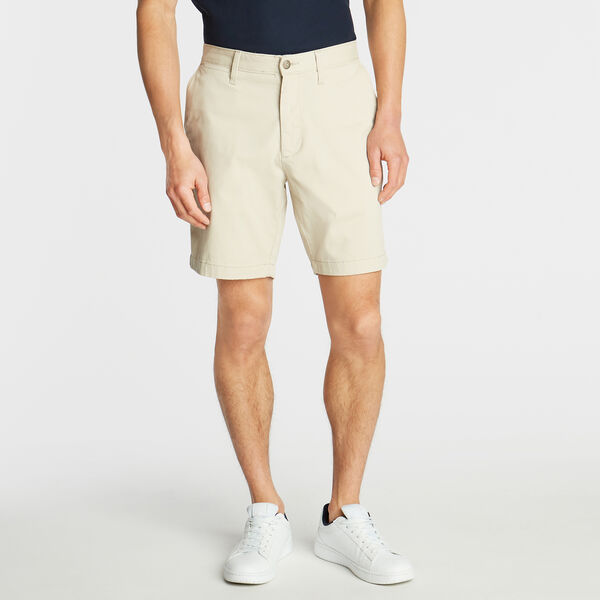 "8.5"" CLASSIC FIT DECK SHORTS WITH STRETCH - True Stone"