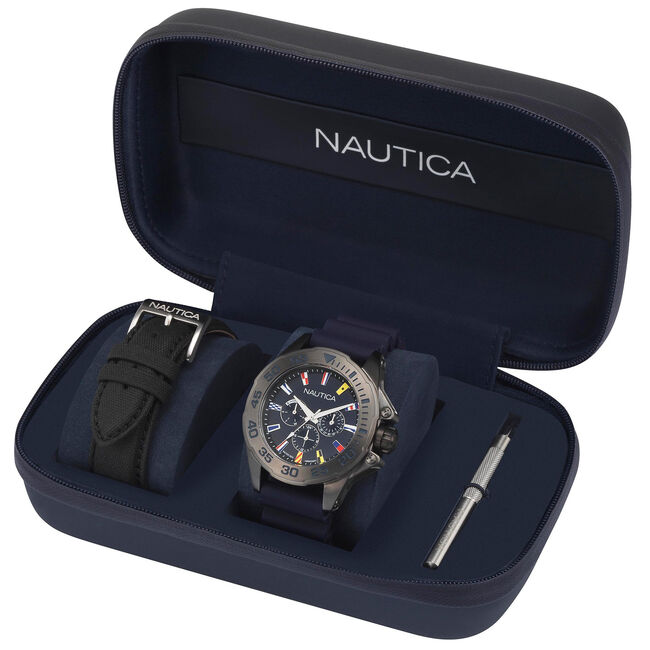Miami Multifunction Watch - Navy,Navy,large