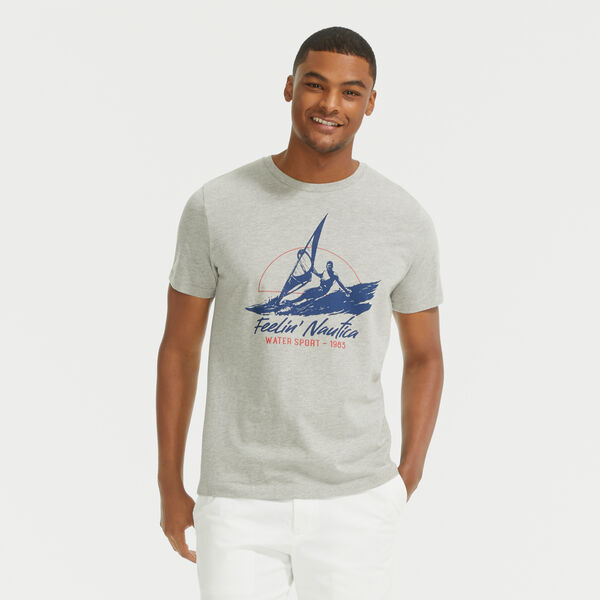 WATER SPORT GRAPHIC T-SHIRT - Grey Heather