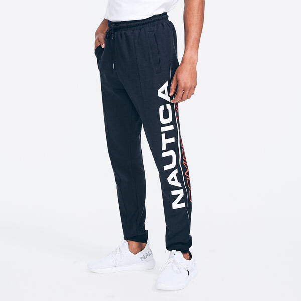 COMPETITION SIDE LOGO GRAPHIC JOGGER - True Black