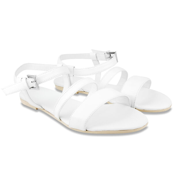 Peary Leather Sandal - Antique White Wash