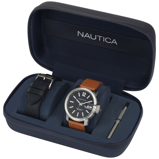 Sydney Watch Set with 2 Interchangeable Straps,Multi,large