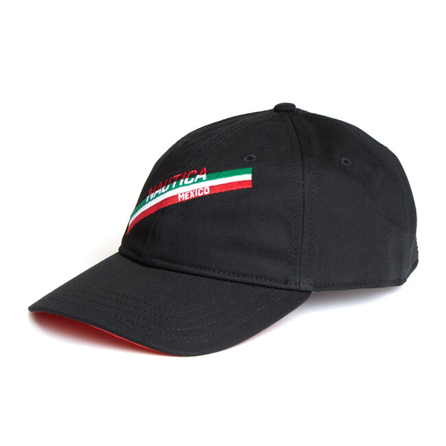 Mexico Baseball Cap,True Black,large