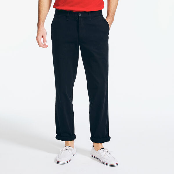 CLASSIC FIT FLAT FRONT DECK PANT - True Black