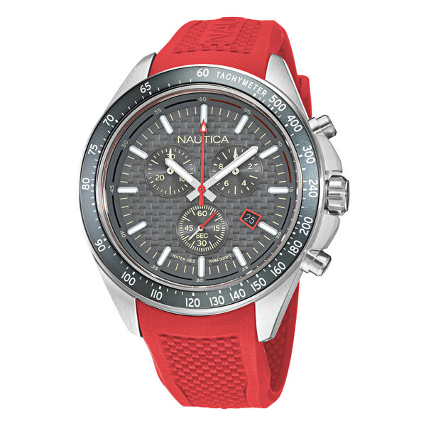 OCEAN BEACH CHRONOGRAPH TEXTURED SILICONE WATCH - Multi