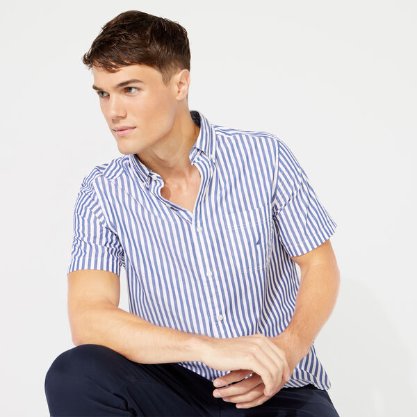 CLASSIC FIT SHORT SLEEVE SHIRT IN CLASSIC STRIPE - Limoges