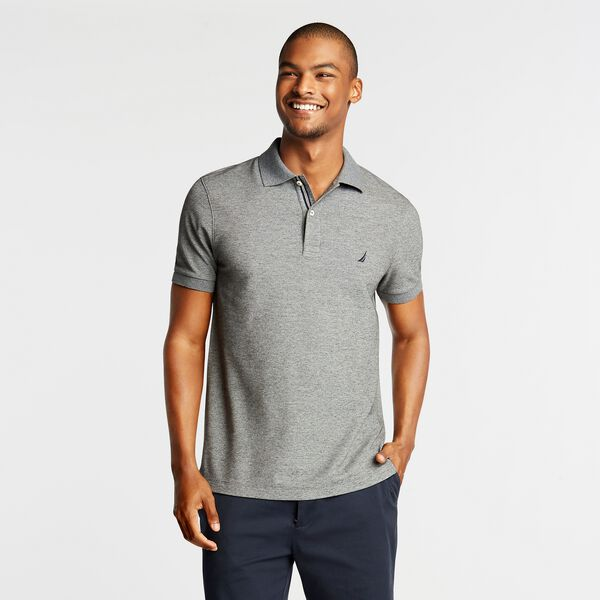 SLIM FIT PERFORMANCE DECK POLO - Charcoal Heather